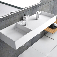 Double Solid Surface Wall-mount Basin