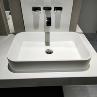 Above Counter Basin with Overflow