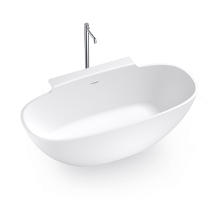 69 Inch Freestanding Bathtub with Overflow Hole