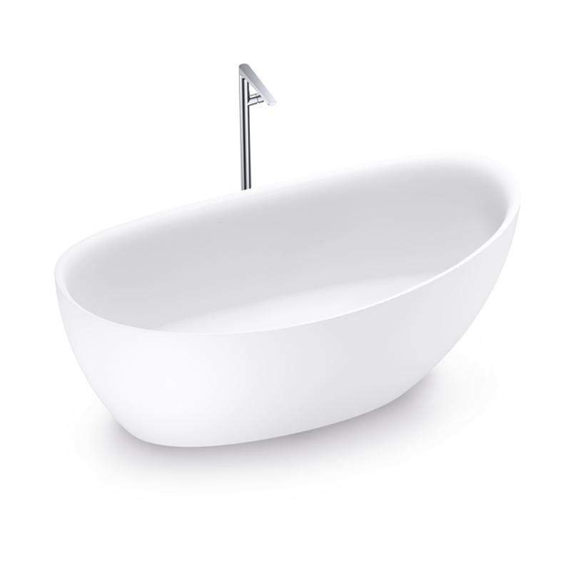 67 Inch Matte White Freestanding Bathtub