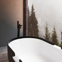 Matte Black Floorstanding Bathtub Mixer