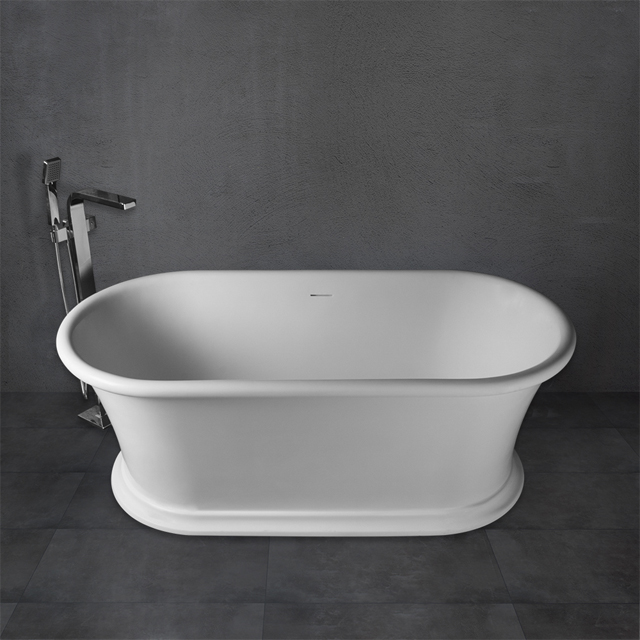 67 Inch Classic Matte Or Glossy Finished Solid Surface Freestanding Bath Tub