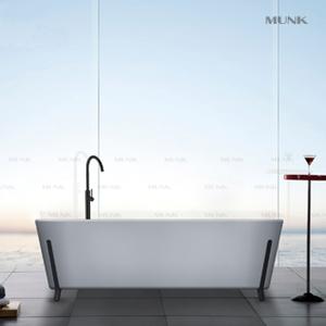 Unique Square Freestanding Bathtub with Iron Shelf