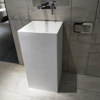White Modern Pedestal Sink