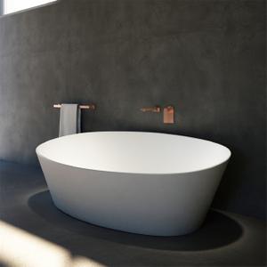 67 Inch Easy Maintenance Matt Finished Solid Surface Freestanding Bath Tub