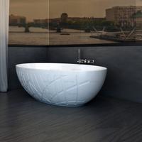 67 Inch Most Popular Solid Surface Freestanding Bathtub Italian Design
