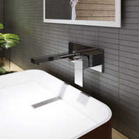 Square Wall-mount Basin Faucet