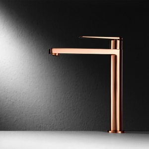 Brushed rose golden basin mixer