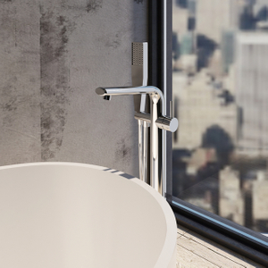 Chrome Finish Floorstanding Bathtub Mixer