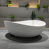 High End Round Solid Surface Freestanding Bathtub