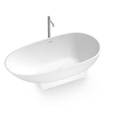 69 Inch Egg Shape Bathtub with Base Holder