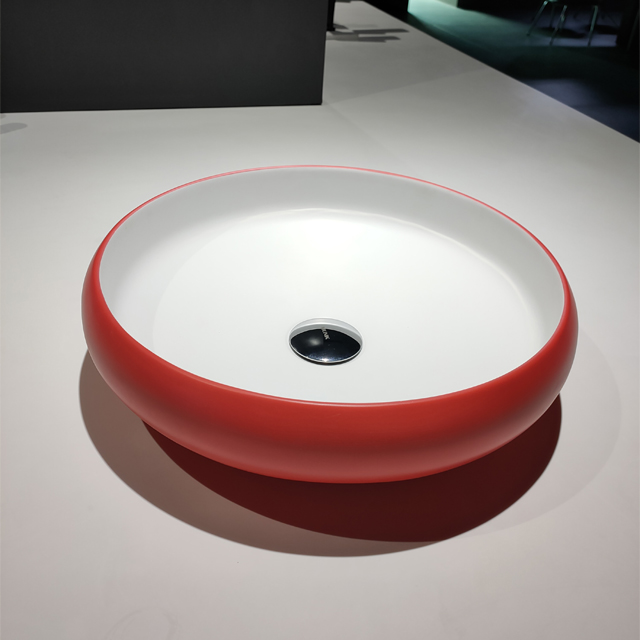 15.5 Inch Round Shape Solid Surface Wash Basin