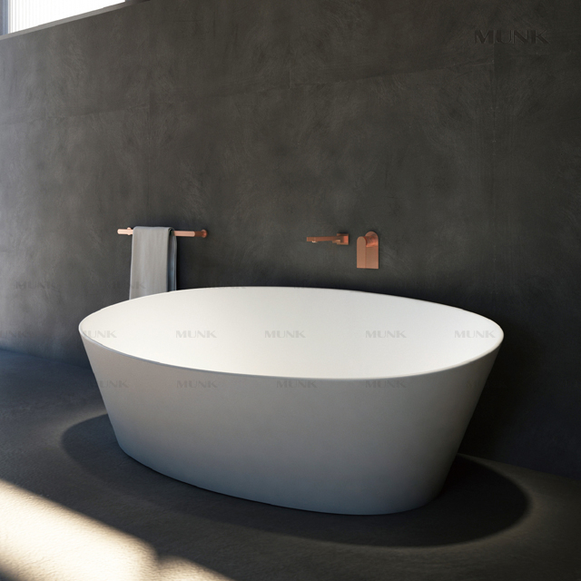 67 Inch Easy Maintenance Matt Finished Solid Surface Freestanding Bath Tub