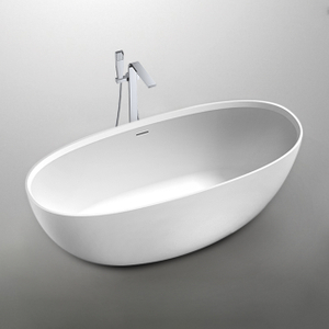 67 Inch High-end White Freestanding Bathtub